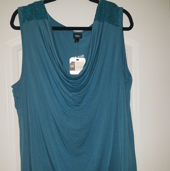 4778afc818765 Sleeveless Mossimo Teal Blue Shirt. NWT. Mossimo Supply Co.